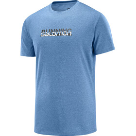 Salomon Agile Graphic Tee Men poseidon